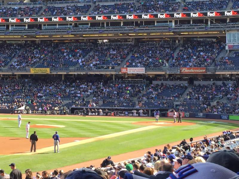 Seating view for Yankee Stadium Section 129 Row 26