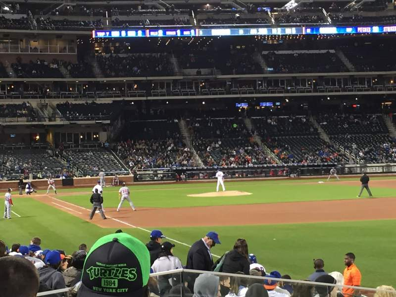Seating view for Citi Field Section 106 Row 14 Seat 1