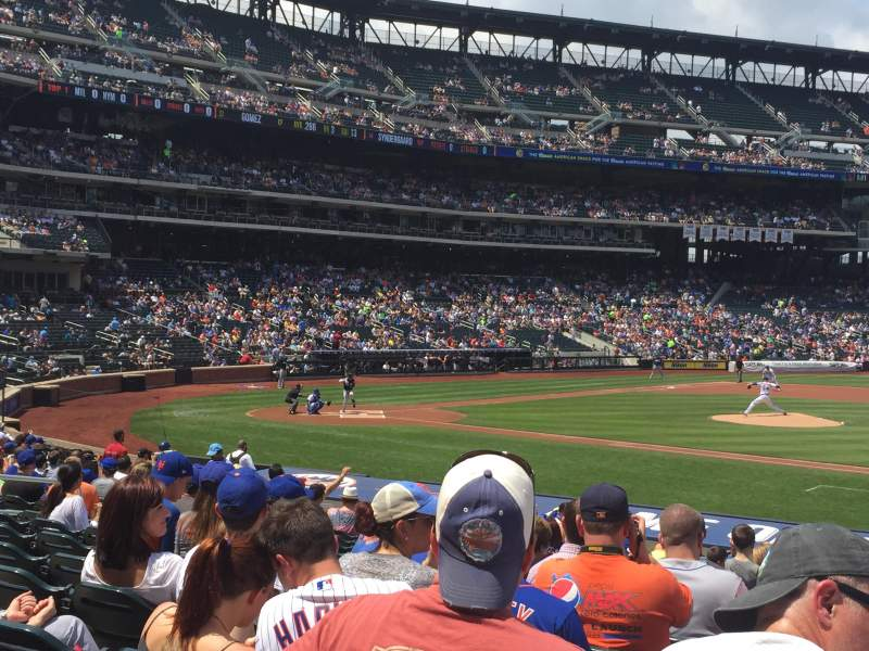 Seating view for Citi Field Section 113 Row 17 Seat 17