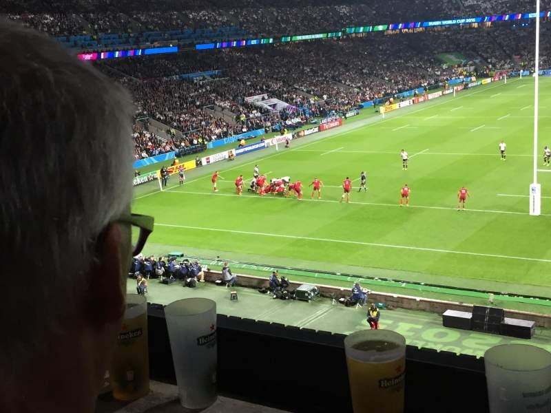 Seating view for Twickenham Stadium Section M45 Row 52 Seat 173