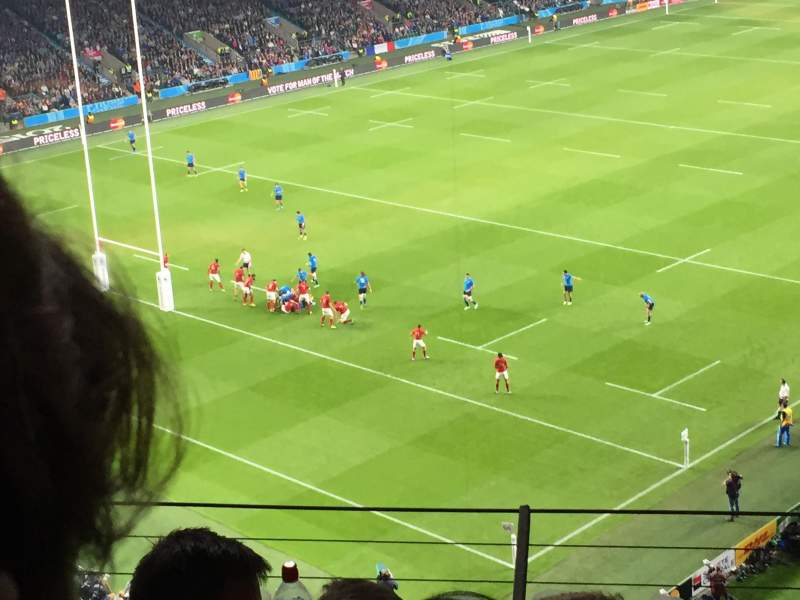 Seating view for Twickenham Stadium Section U15 Row D Seat 399