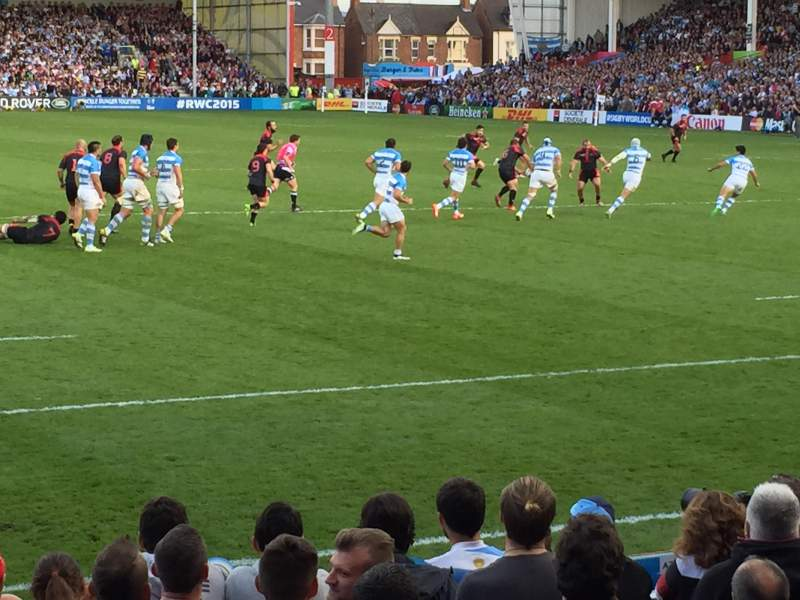 Seating view for Kingsholm Stadium Section West Stand Row Stand Seat Stand