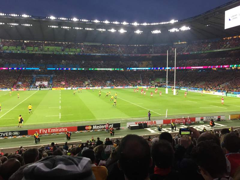 Seating view for Twickenham Stadium Section L24 Row 28 Seat 186