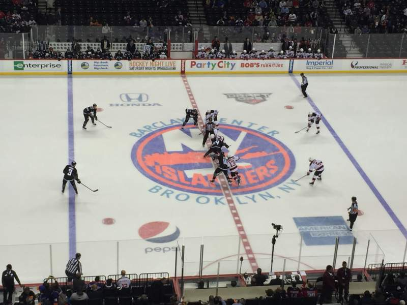 Seating view for Barclays Center Section 225 Row 1 Seat 4