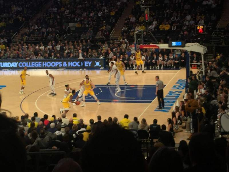 Seating view for Madison Square Garden Section 119 Row 15 Seat 5