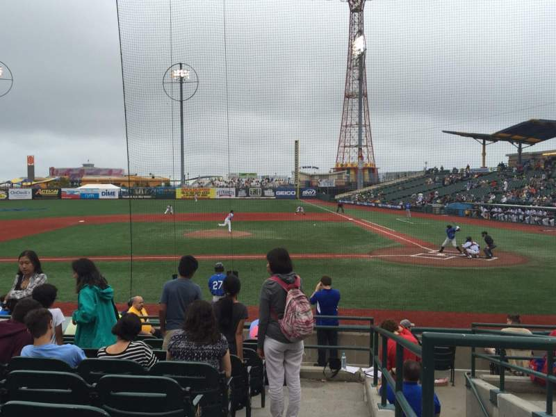 Seating view for MCU Park Section 9 Row M Seat 1