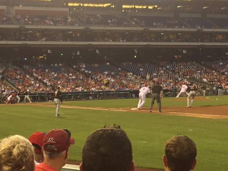 Seating view for Citizens Bank Park Section 112 Row 4 Seat 6
