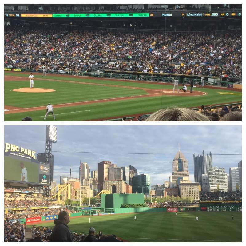 Seating view for PNC Park Section 127 Row v