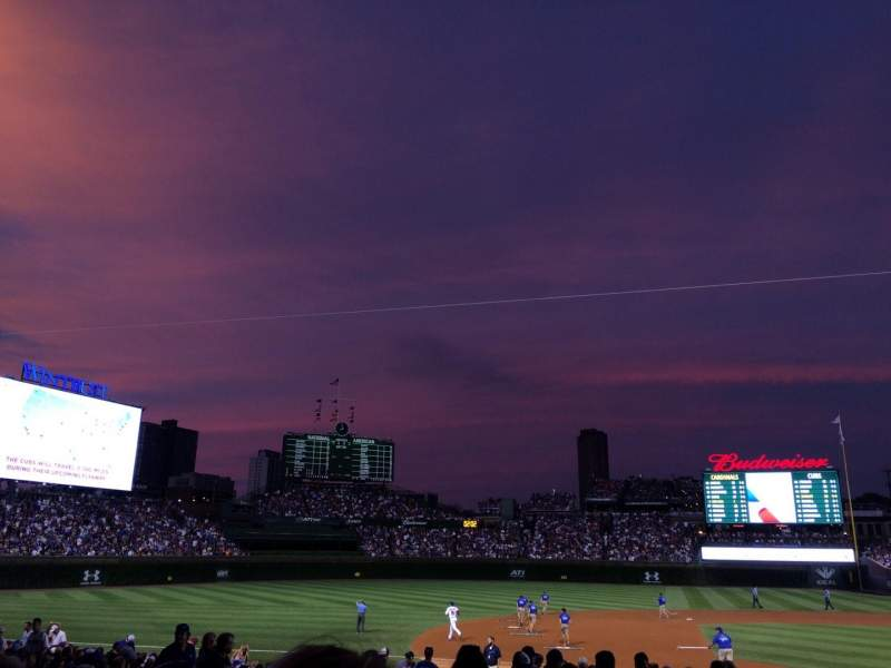 Seating view for Wrigley Field Section 206