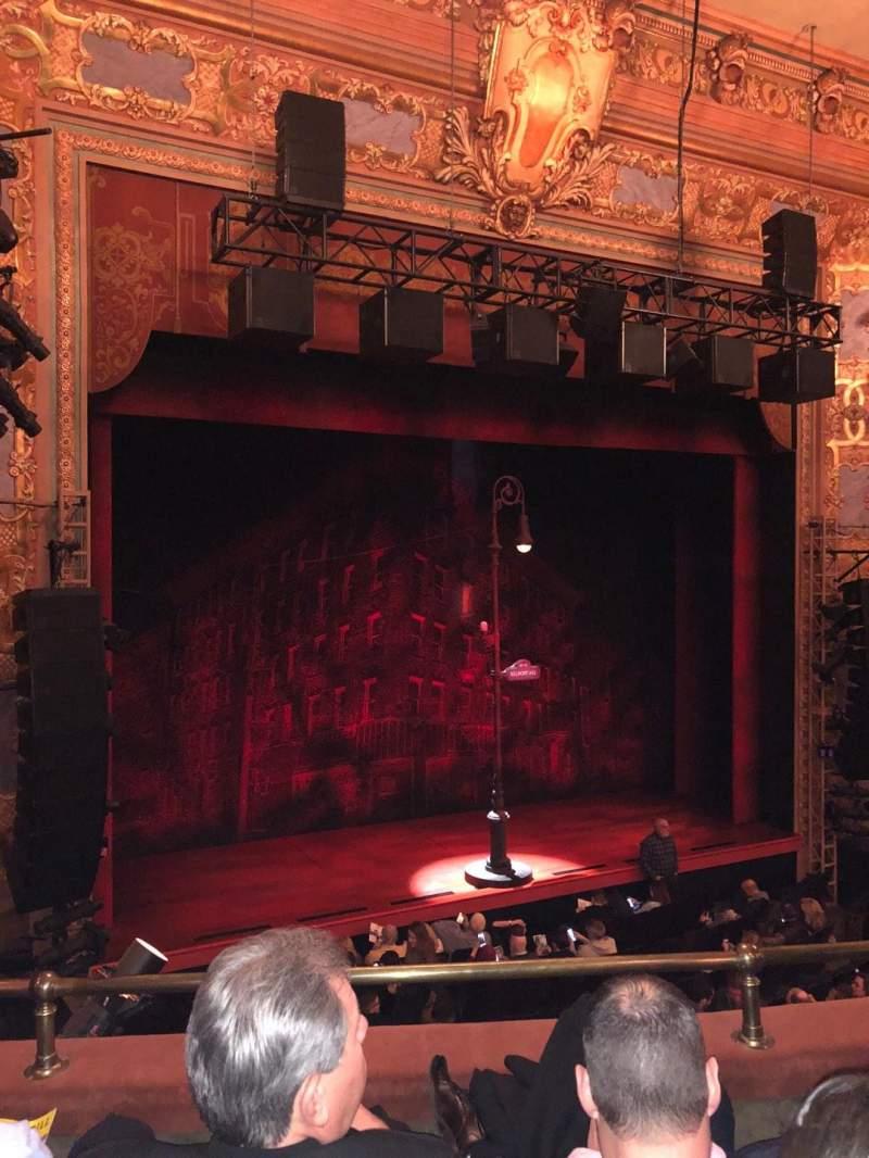 Longacre Theatre, section: Mezz L, row: C, seat: 10
