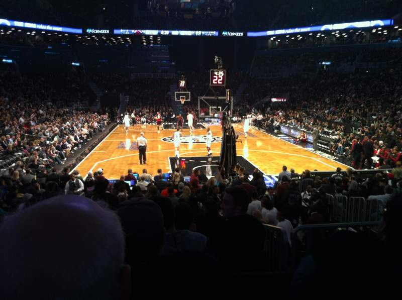 Seating view for Barclays Center Section 16 Row 12 Seat 15