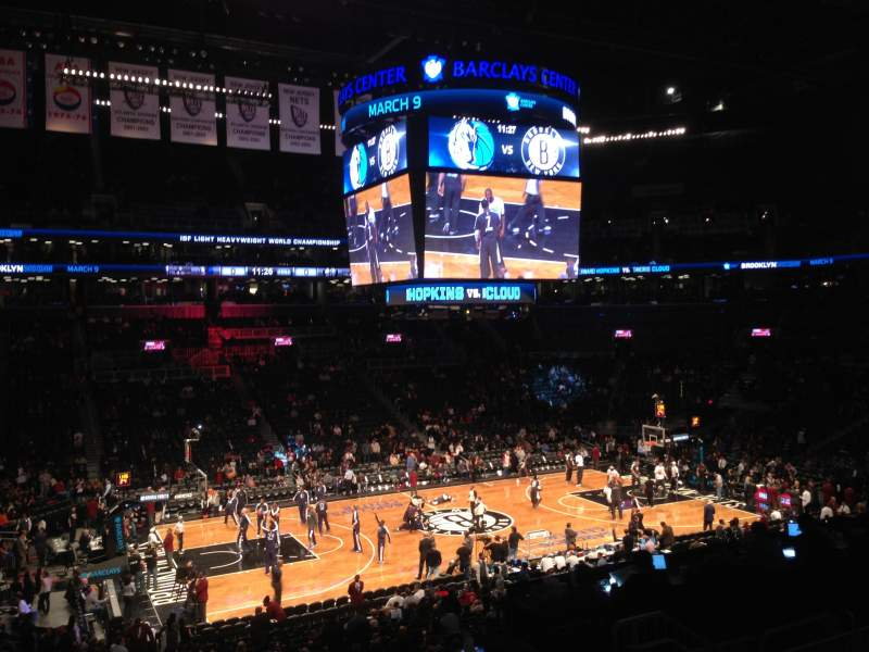 Seating view for Barclays Center Section 110 Row 8 Seat 6
