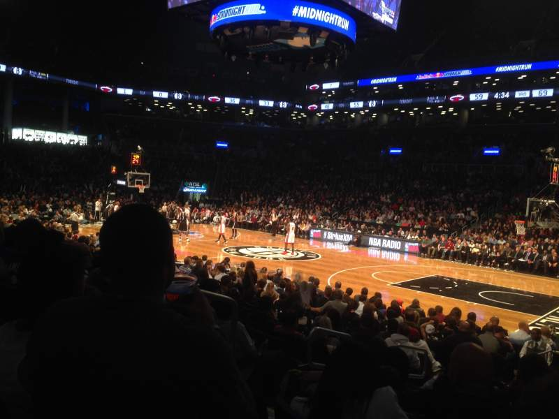 Seating view for Barclays Center Section 22 Row 10 Seat 5