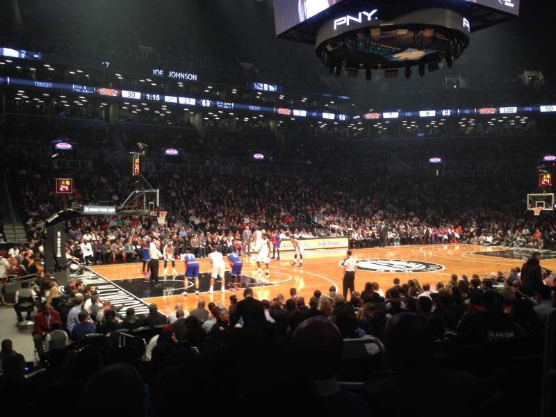 Seating view for Barclays Center Section 26 Row 9 Seat 4