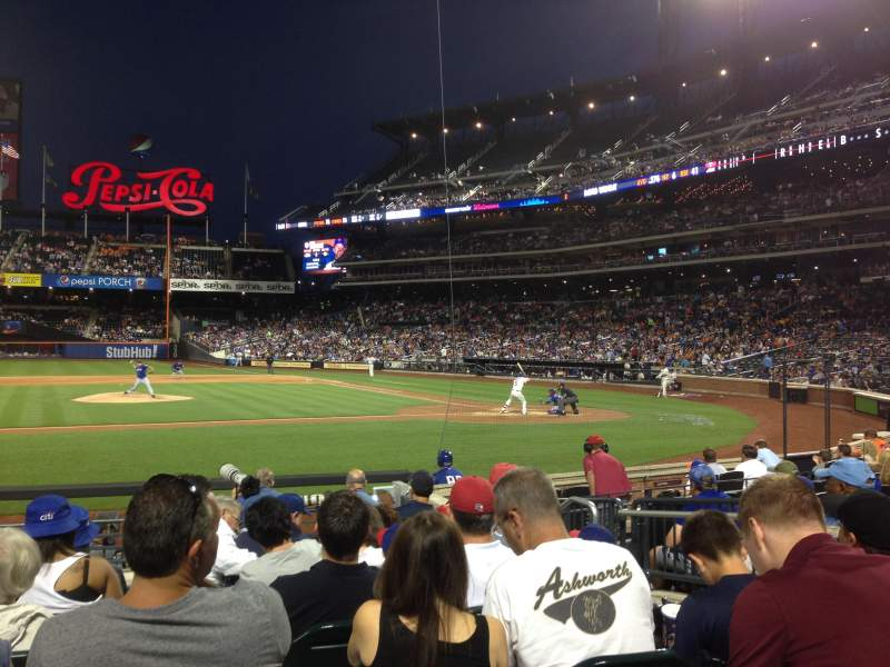 Seating view for Citi Field Section 121 Row 7 Seat 3