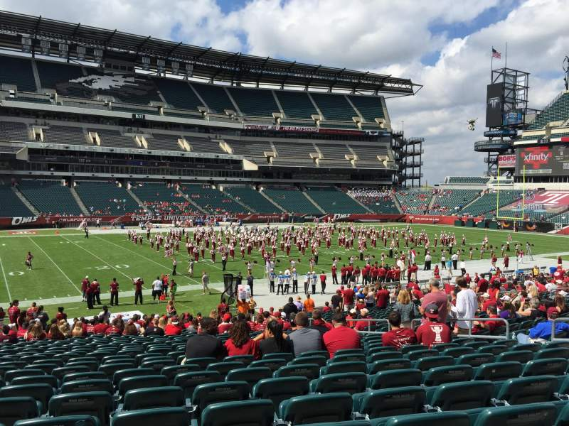 Seating view for Lincoln Financial Field Section 117 Row 17 Seat 8