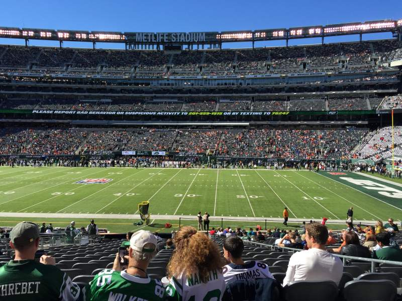 Seating view for MetLife Stadium Section 111c Row 25 Seat 5