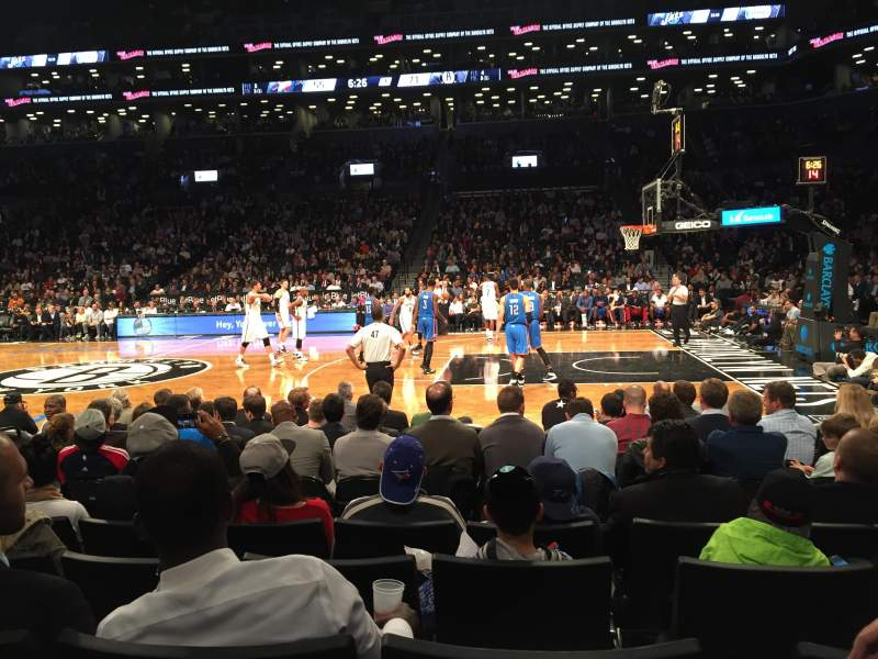 Seating view for Barclays Center Section 23 Row 5 Seat 5