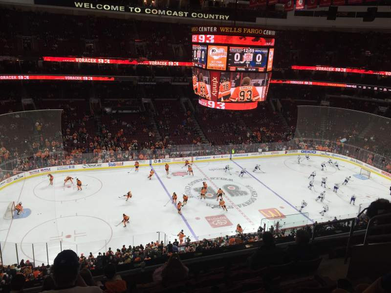 Seating view for Wells Fargo Center Section 223 Row 8 Seat 10