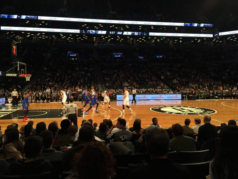 Seating view for Barclays Center Section 25 Row 5 Seat 8