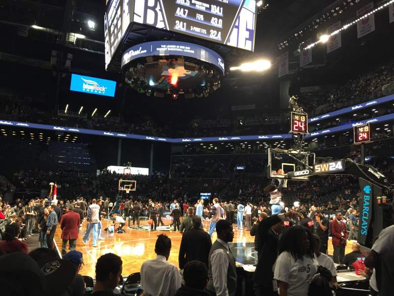 Seating view for Barclays Center Section 19 Row 1 Seat 7