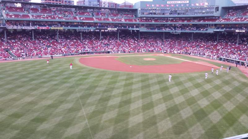 Seating view for Fenway Park Section Green Monster 9 Row 2 Seat 1