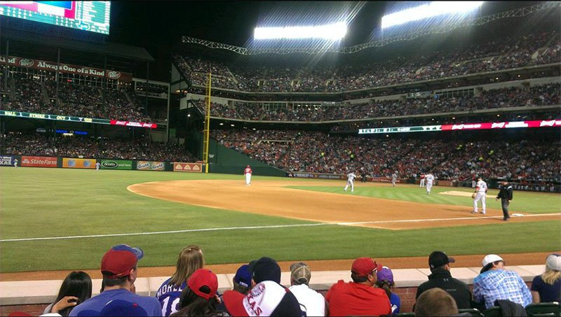 Seating view for Globe Life Park in Arlington Section 16 Row 3 Seat 16