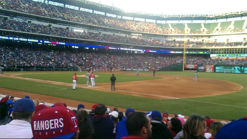 Seating view for Globe Life Park in Arlington Section 36 Row 8 Seat 4