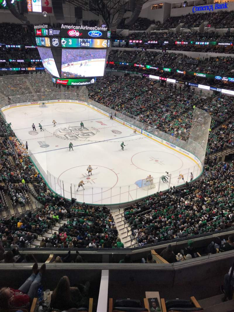 Seating view for American Airlines Center Section 320 Row A Seat 13-14