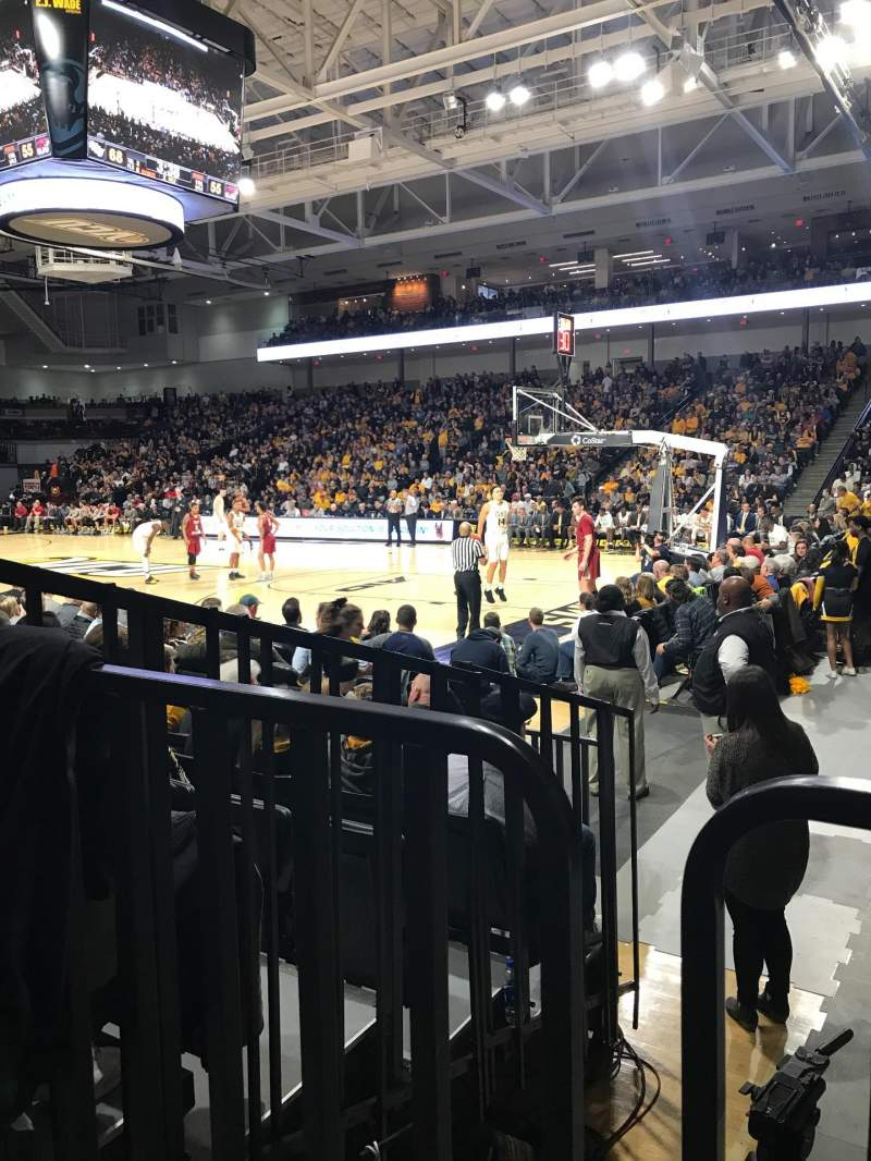 Seating view for Stuart C. Siegel Center Section 21 Row F Seat 5