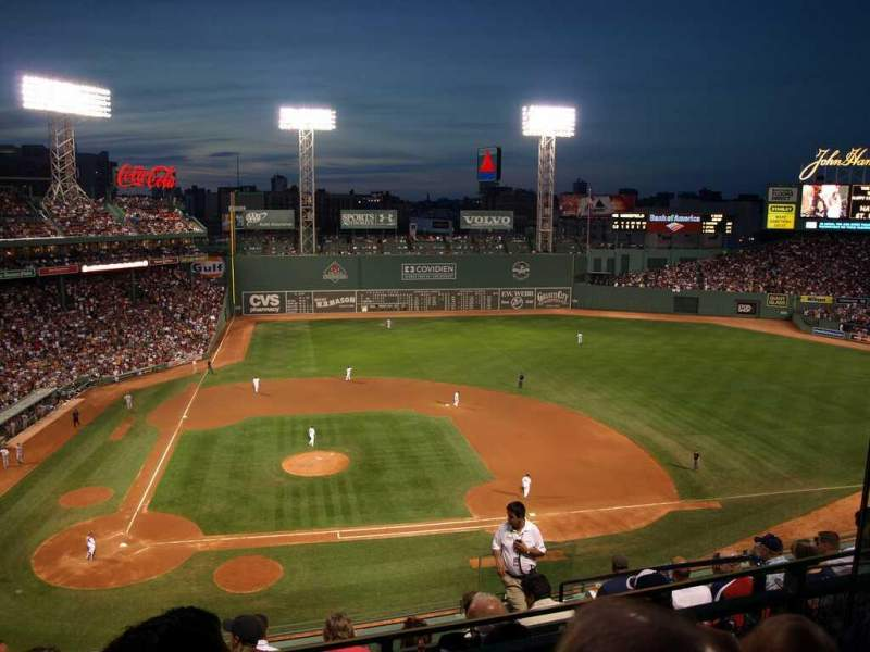 Seating view for Fenway Park Section 3 Row B Seat 4