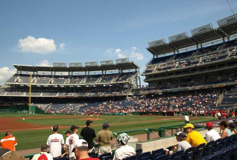 Seating view for Nationals Park Section 115 Row H Seat 13