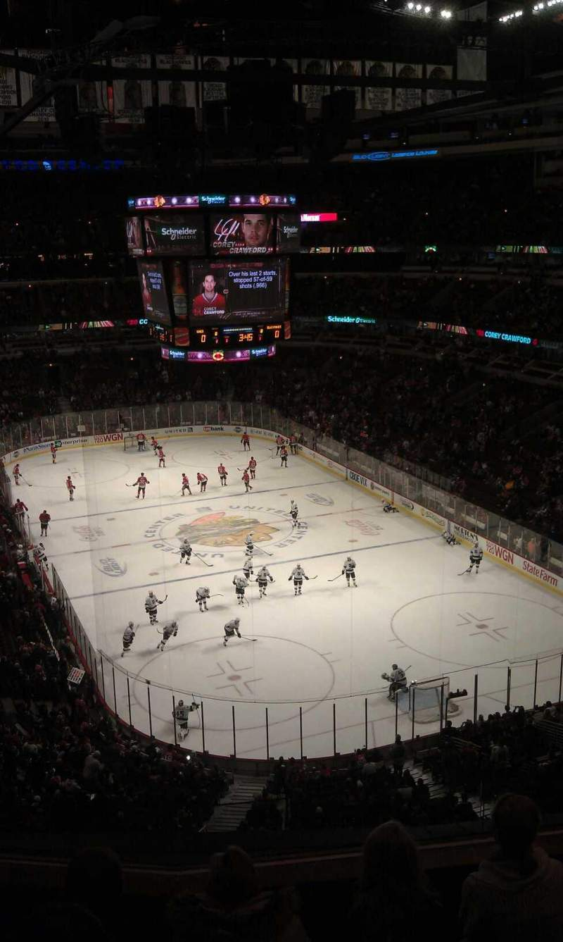Seating view for United Center Section 328 Row 5 Seat 7