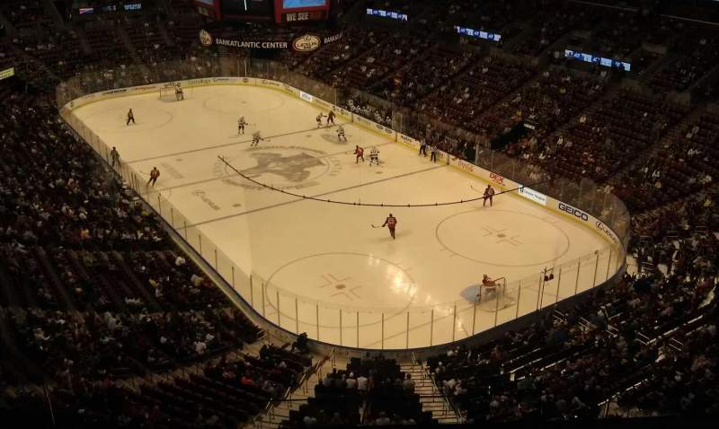 Seating view for BB&T Center Section 412 Row 4 Seat 14