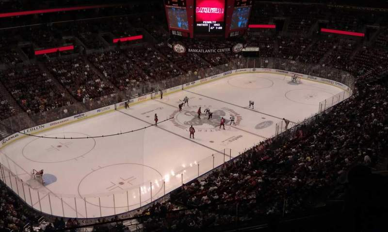 Seating view for BB&T Center Section 406 Row 4 Seat 14