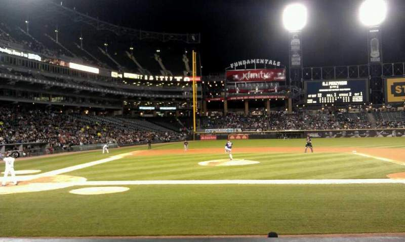 Seating view for Guaranteed Rate Field Section 126 Row 9 Seat 3
