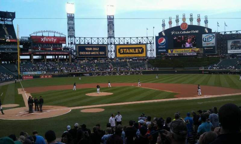 Seating view for Guaranteed Rate Field Section 129 Row 19 Seat 1