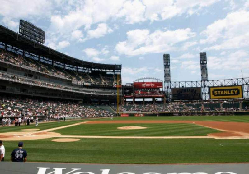 Seating view for Guaranteed Rate Field Section 126 Row 9 Seat 4