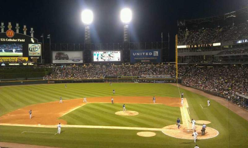 Seating view for Guaranteed Rate Field Section 233 Row 1 Seat 3