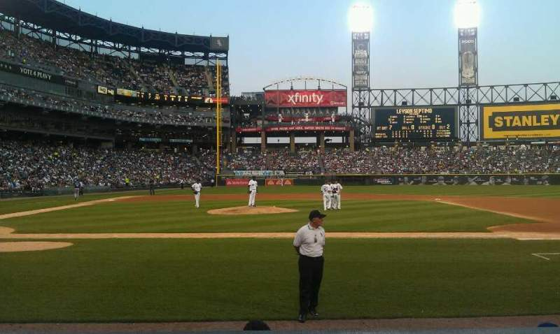 Seating view for U.S. Cellular Field Section 126 Row 5 Seat 1