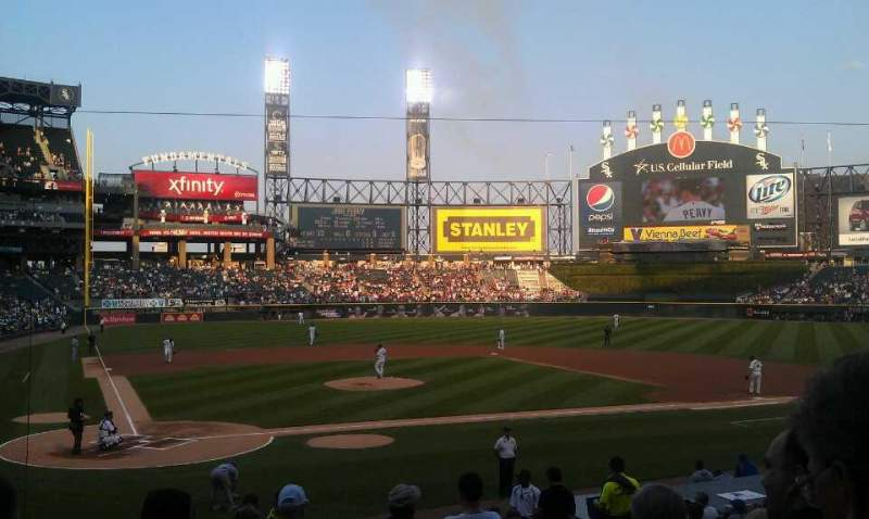 Seating view for U.S. Cellular Field Section 129 Row 19 Seat 1