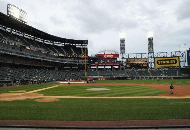 Seating view for U.S. Cellular Field Section 126 Row 9 Seat 4