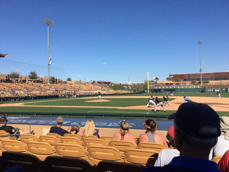 Seating view for Camelback Ranch Section 7 Row 9 Seat 4