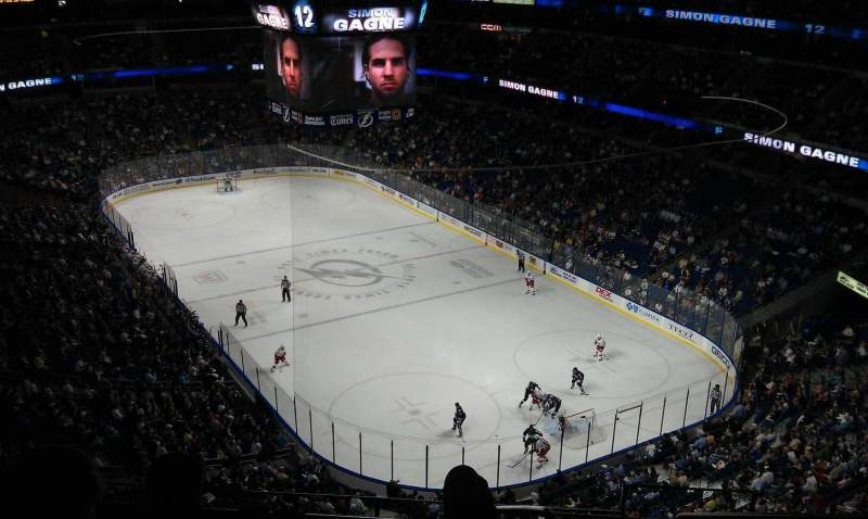 Seating view for Amalie Arena Section 325 Row B Seat 10