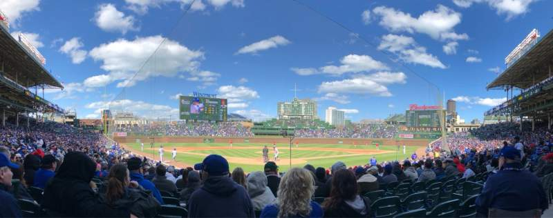 Seating view for Wrigley Field Section 118 Row 1 Seat 2