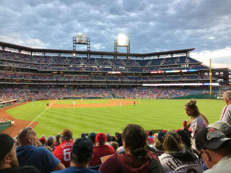 Seating view for Citizens Bank Park Section 106 Row 13 Seat 9