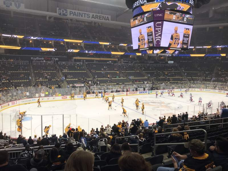 Seating view for PPG Paints Arena Section 115 Row X Seat 8