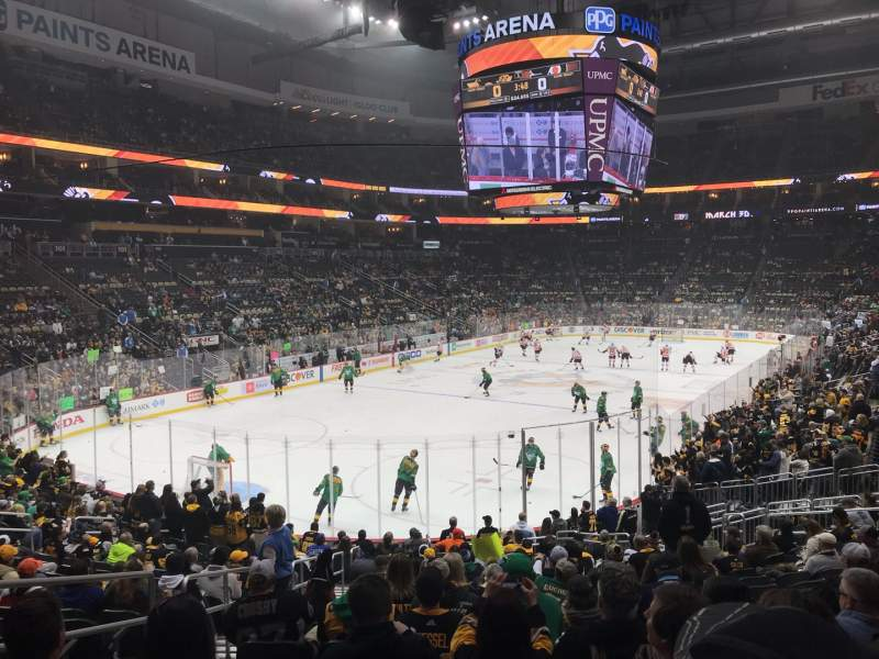 Seating view for PPG Paints Arena Section 116 Row X Seat 20