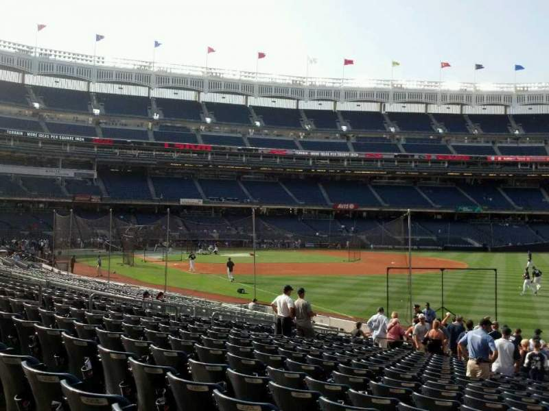 Seating view for Yankee Stadium Section 109 Row 20 Seat 18