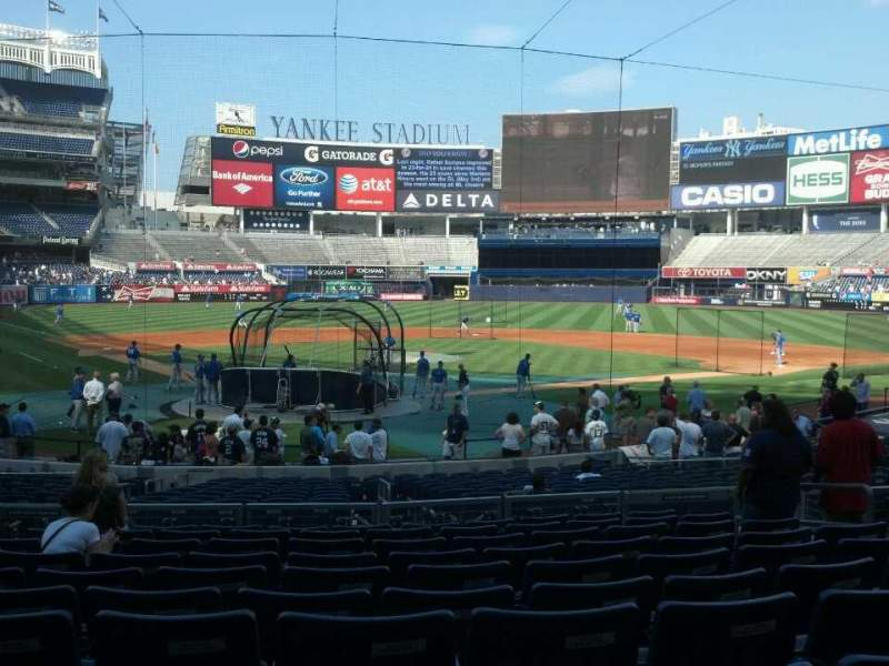 Seating view for Yankee Stadium Section 119 Row 22 Seat 9
